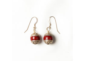 earrings_Tibetan_ruby_quartz